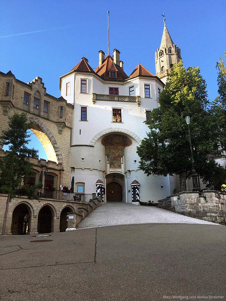 Etappensieg! Am Ziel in Sigmaringen, mit Schloss. | Foto: Wolfgang und Aloisia Streicher