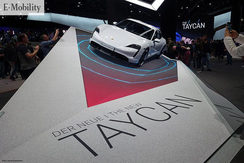 SCHNELLER STROMER Präsentation des neuen voll elektrisch angetriebenen Porsche Taycan auf der IAA 2019   Foto: Aloisia Streicher