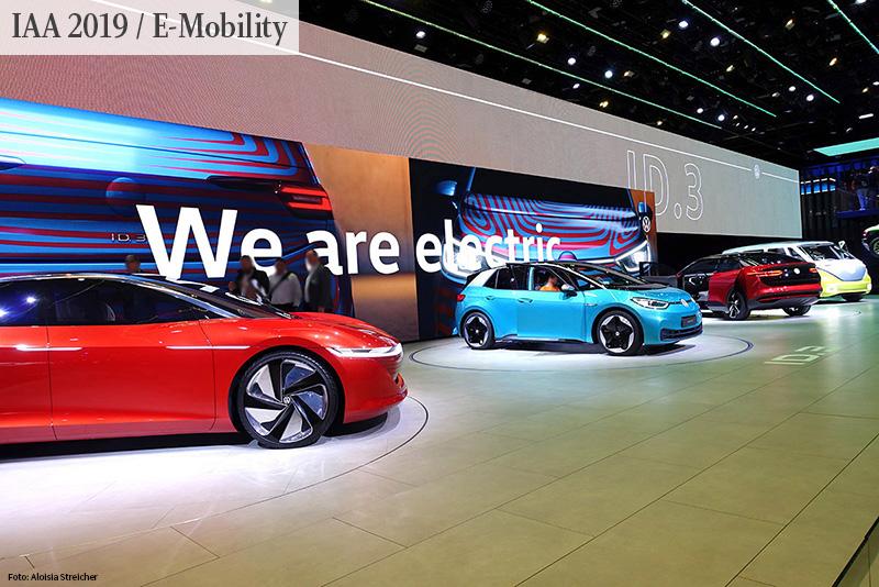 INTERNATIONALE AUTOMOBILAUSSTELLUNG IAA 2019: Auf der Suche nach der Elektromobilität von morgen. Im Bild Volkswagen ID-Familie   Foto: Aloisia Streicher