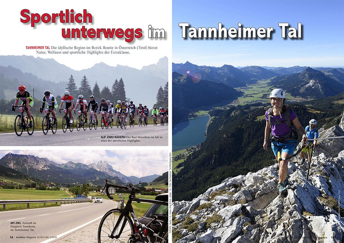 hochblau Magazin 1/2019 - Auszug Seiten 14-19: Region: Sportlich unterwegs im Tannheimer Tal | © hochblau Verlag Hans-Jörg Ernst