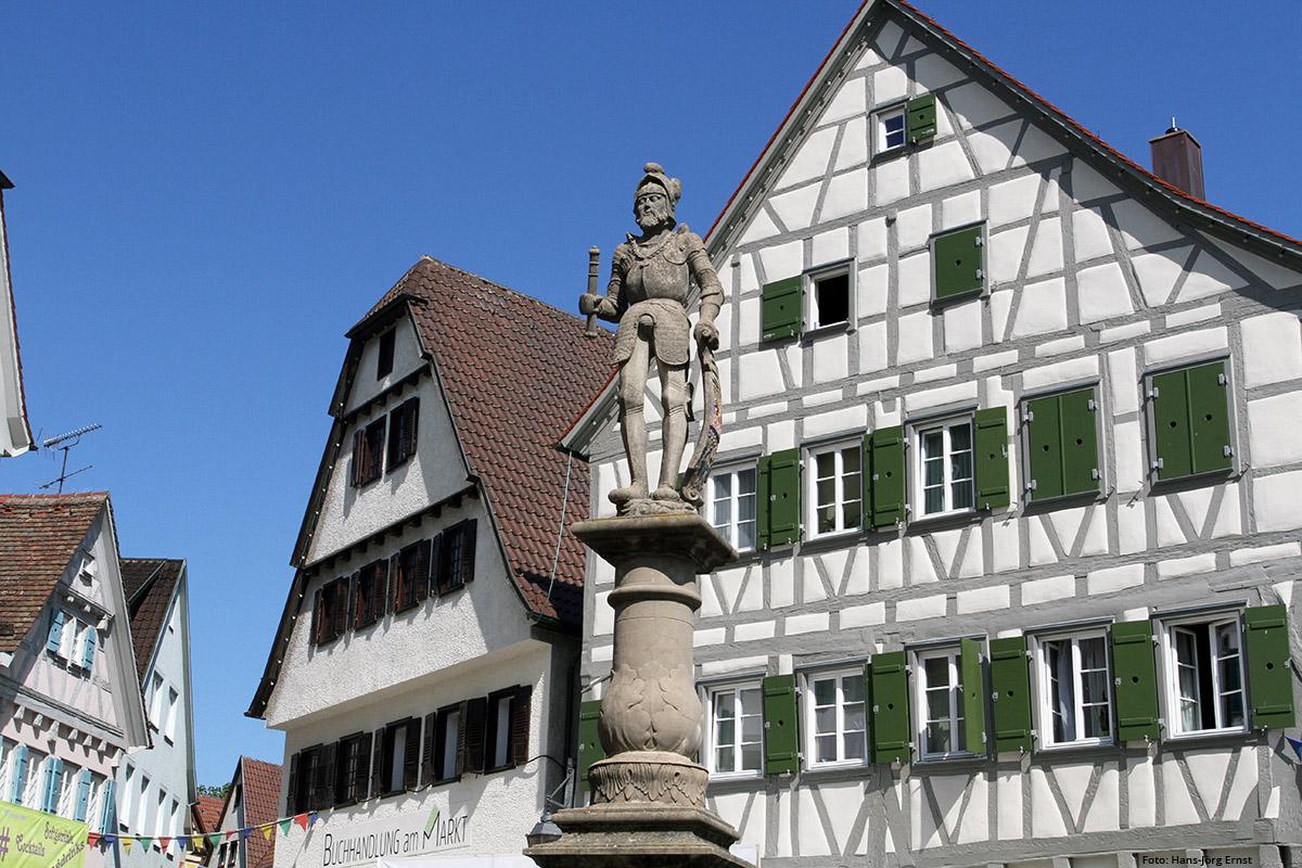 SEHENSWERT Viele historische Gebäude in Markgröningen zeugen von der Jahrhunderte alten Vergangenheit. | Foto: Hans-Jörg Ernst
