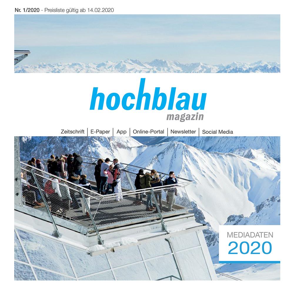 Das hochblau Magazin steht für ein Lebensgefühl und für eine ausgefüllte Freizeitgestaltung. Es bringt das, was aktive Menschen heute suchen und verknüpft dabei Inhalte aus den Bereichen Kultur, Wissen, Sport, Abenteuer, Wellness und Lifestyle.