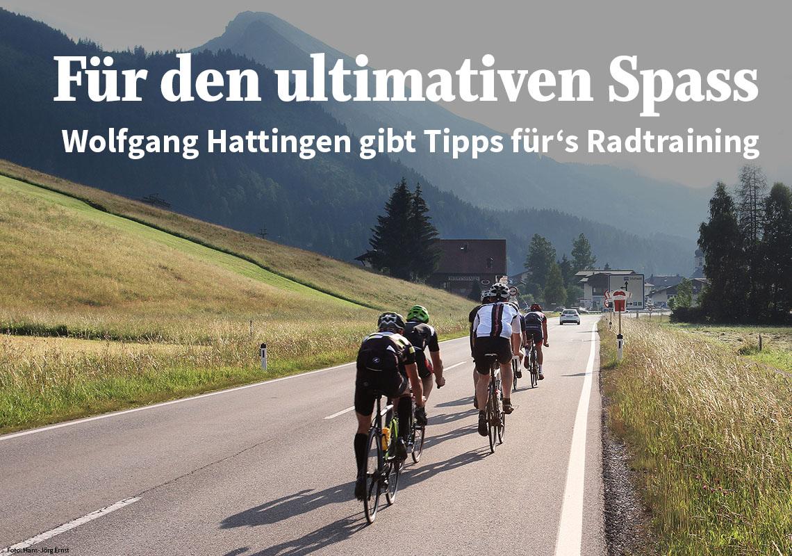 Radtraining mit Wolfgang Hattingen