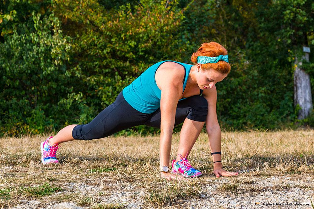 BEINTRAINING Steigere Deine Fitness und Deine Beweglichkeit durch Ausfallschritte.